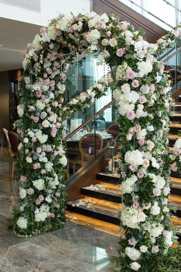 Laura Kuy The Shard Shangri La Hotel London Wedding Flowers Flowerona-2