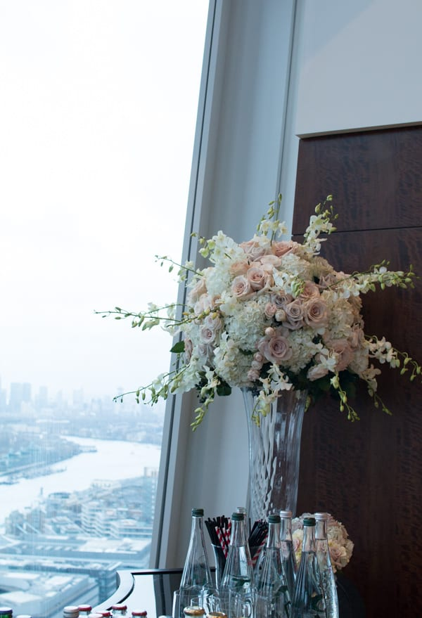 Laura Kuy The Shard Shangri La Hotel London Wedding Flowers Flowerona-23