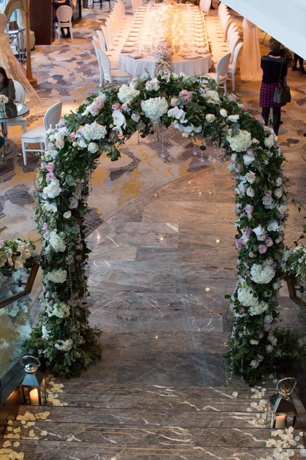 Laura Kuy The Shard Shangri La Hotel London Wedding Flowers Flowerona-24