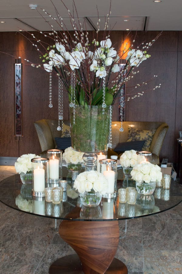 Laura Kuy The Shard Shangri La Hotel London Wedding Flowers Flowerona-3