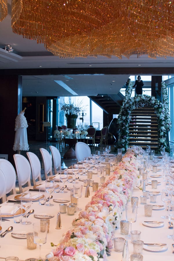 Laura Kuy The Shard Shangri La Hotel London Wedding Flowers Flowerona-5