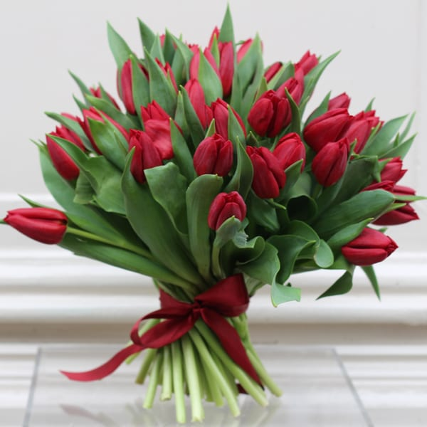 Jamie-Aston-Valentine's-Day-2016-My-Valentine-Beautiful-Red-Tulip-Bouquet