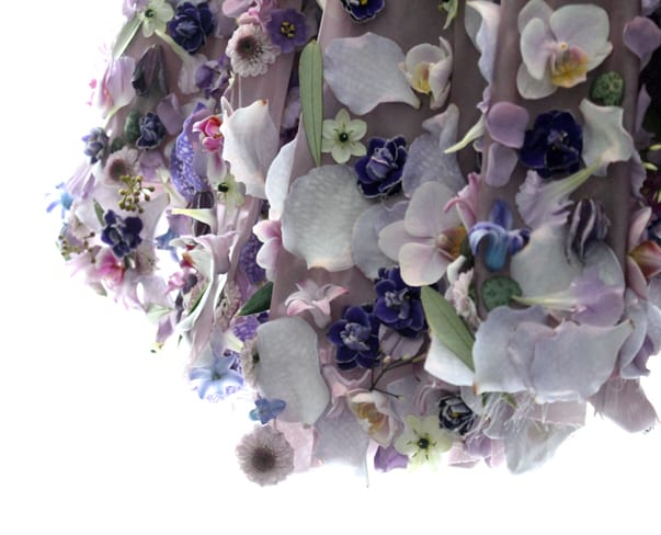 Florist Friday : Living Floral Dress by Joseph Massie, created for Arlene Phillips