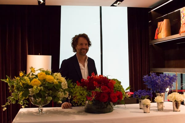 Carolina Herrera Robbie Honey Floristry Demonstration Flowerona-9
