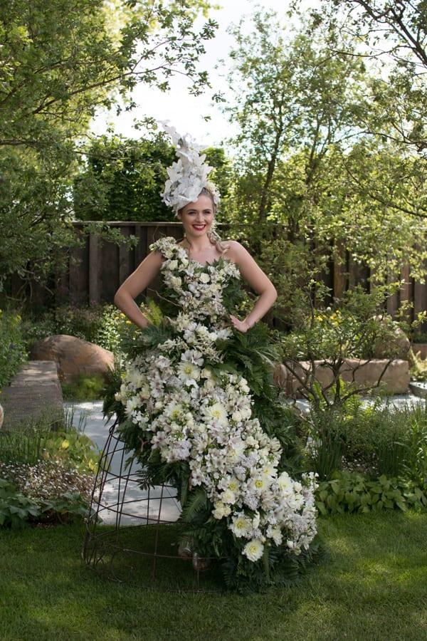 RHS Chelsea Flower Show 2016 Floral Dress Larry Walshe M&G Show Garden Flowerona-3