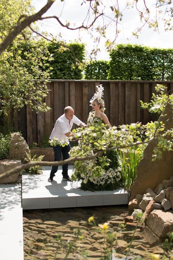 RHS Chelsea Flower Show 2016 Floral Dress Larry Walshe M&G Show Garden Flowerona-4