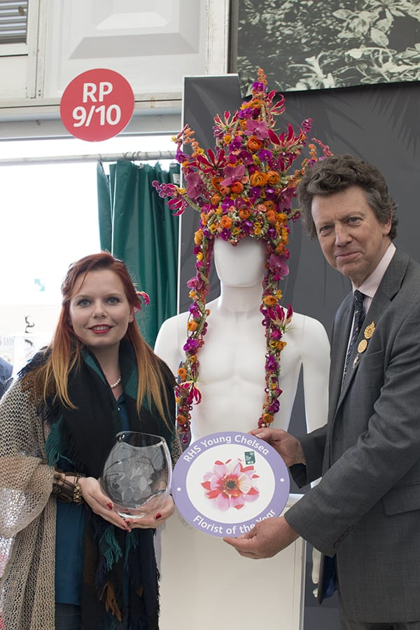 RHS Chelsea Flower Show 2016 RHS Young Chelsea Florist of the Year Competition Flowerona Winner Kay Willis Fairmile Florist 1