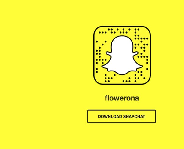Flowerona Tips : Have you considered joining Snapchat?
