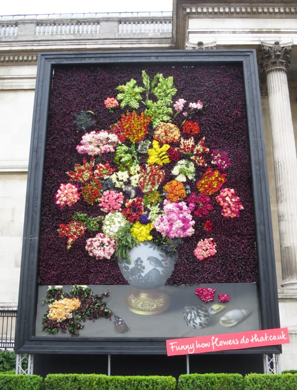 The Flower Council of Holland Funny How Flowers Do That Dutch Flowers Installation Trafalgar Square London 2016 Flowerona-1