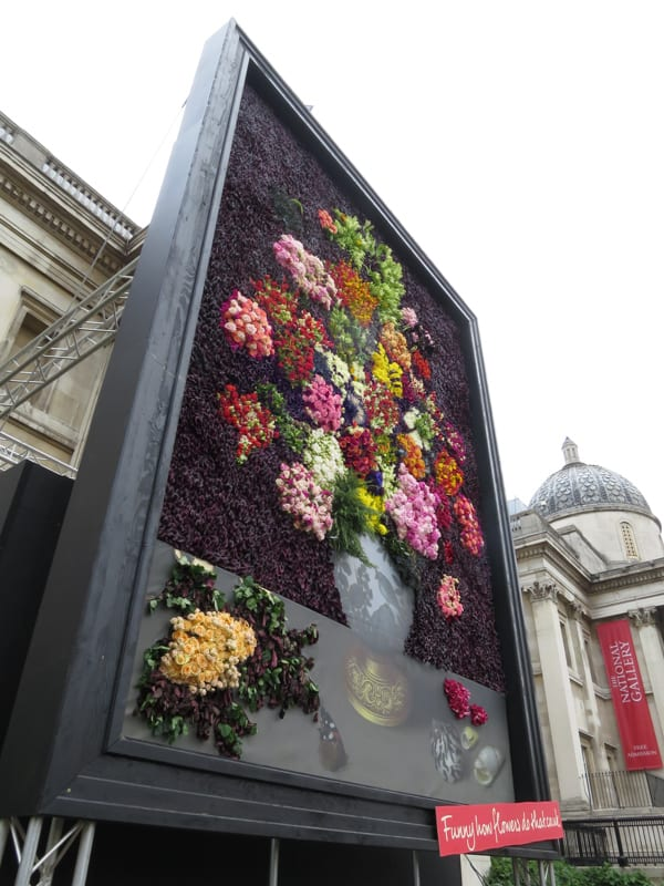 The Flower Council of Holland Funny How Flowers Do That Dutch Flowers Installation Trafalgar Square London 2016 Flowerona-9