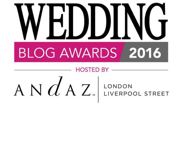 Wedding Blog Awards 2016 | Flowerona has been shortlisted for the Best Wedding Flowers Blog Award!