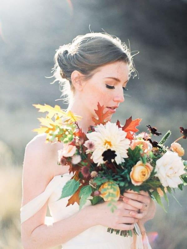 Foraged-Floral-Bridal-Bouquet-Chocolate-Cosmos-Flowerona