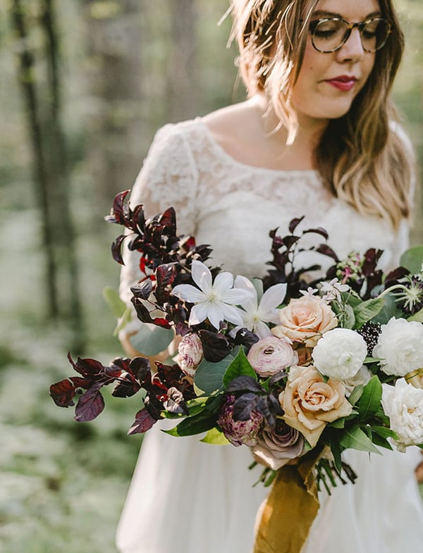 tiffany-siladke-foraged-floral-unique-peach-and-plum-wedding-bouquet-flowerona