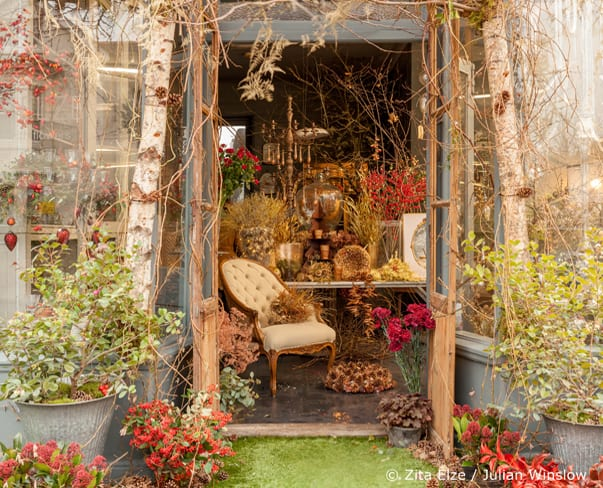 Stunning Christmas floral designs at florist Zita Elze's shop in Kew, London
