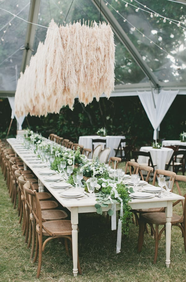 Wedding Wednesday On Trend Pampas Grass Flowerona