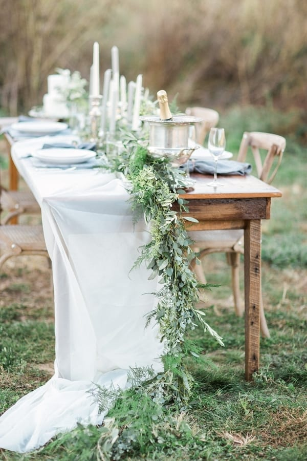 Wedding Wednesday On Trend Foliage Table Runners