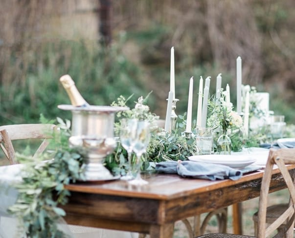 Wedding Wednesday : On Trend – Foliage Table Runners