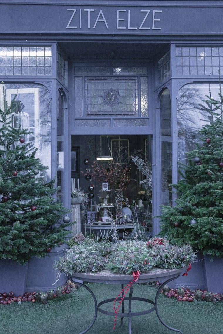 Entrance to Zita Elze's Flower shop in Kew, London