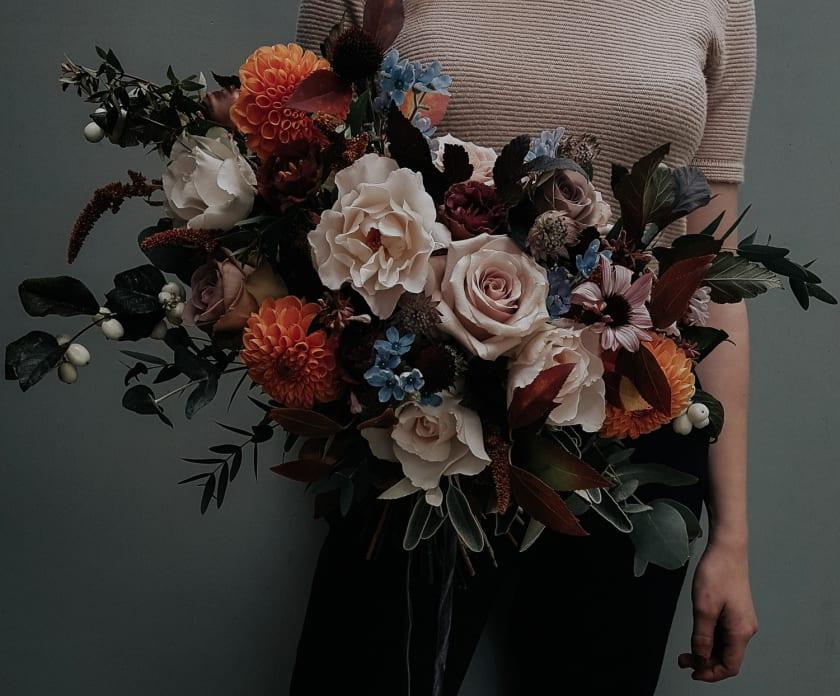 Swallows & Damsons Vert And Vase Blog Bridal Bouquet