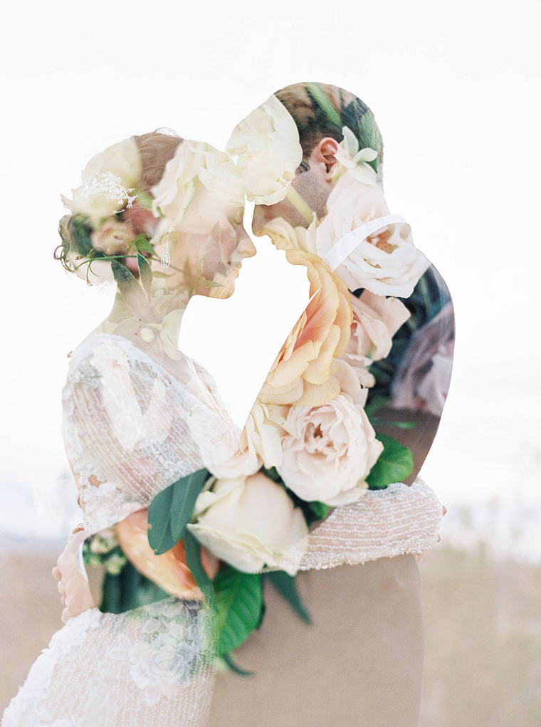 Beautiful double exposure image by Photographer SAVAN PHOTOGRAPHY featuring Florals by OAK & AMBLE