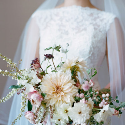 Floristry Industry Insight – Stunning Bridal Bouquet in Pretty Pastel Shades