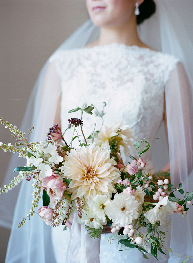 Bridal Bouquet by Tinge Floral Photography by Carrie Patterson