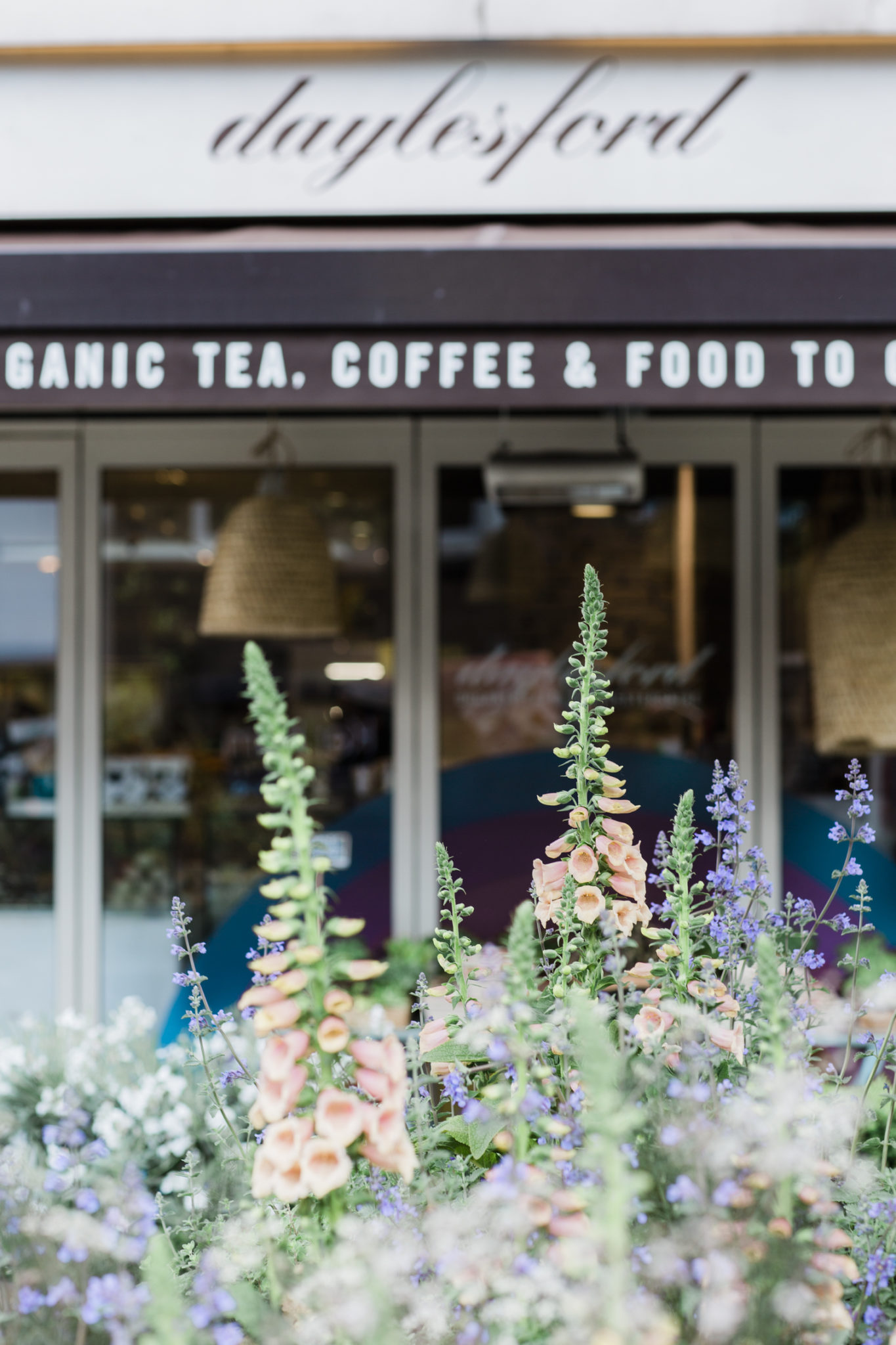 Daylesford Organic at Pimlico in London with planting by JamJar Flowers