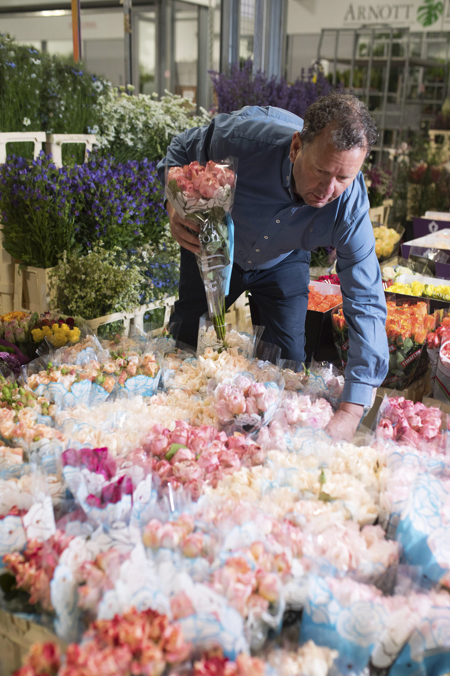 Graeme at Zest Flowers with British roses