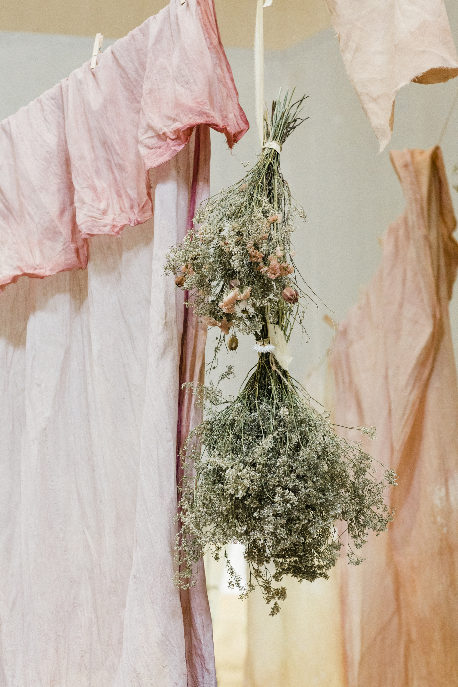 Worm Installation at the Garden Museum for British Flowers Week 2019
