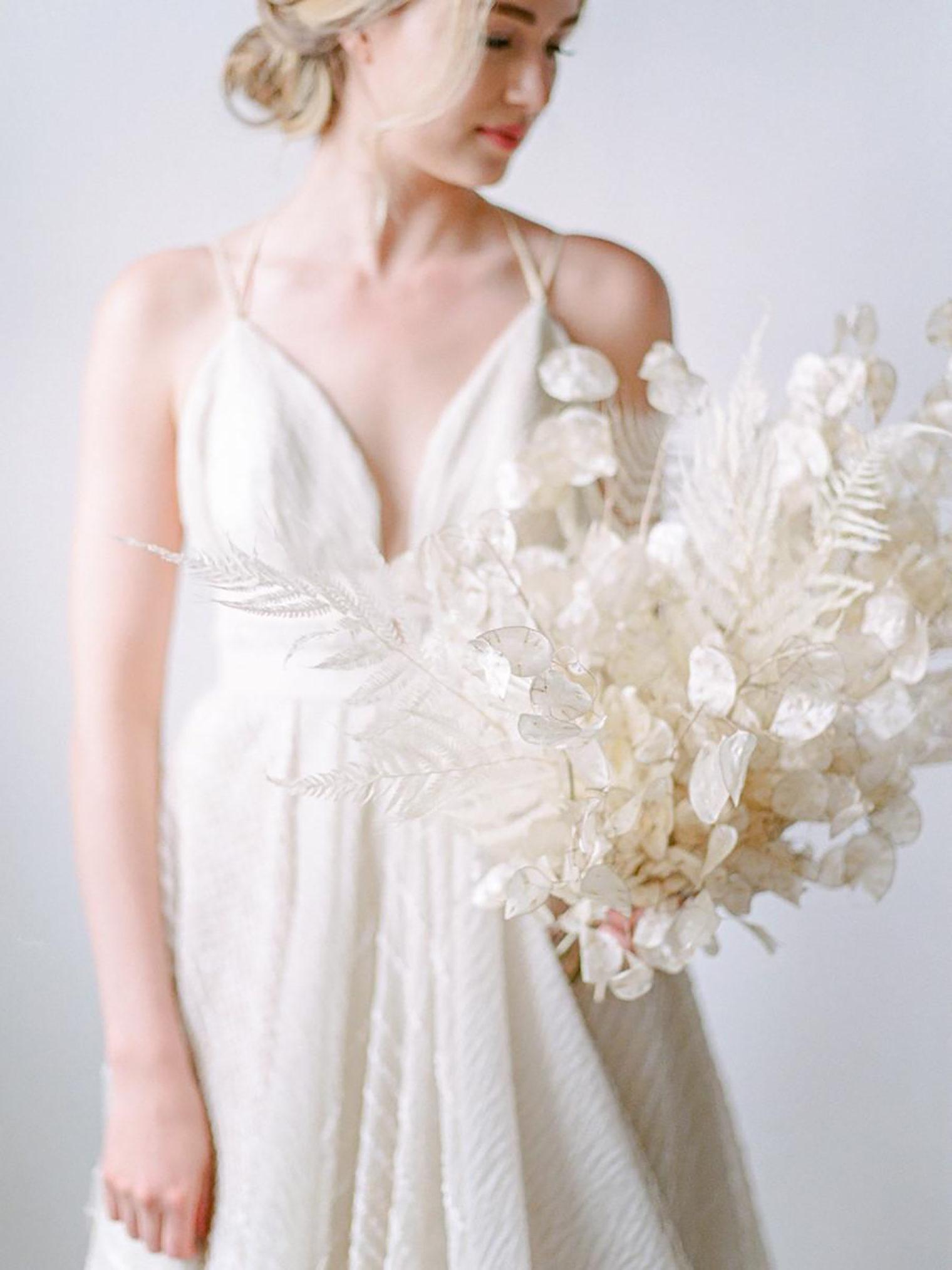 White Bridal Bouquet at Sinclair & Moore Workshop