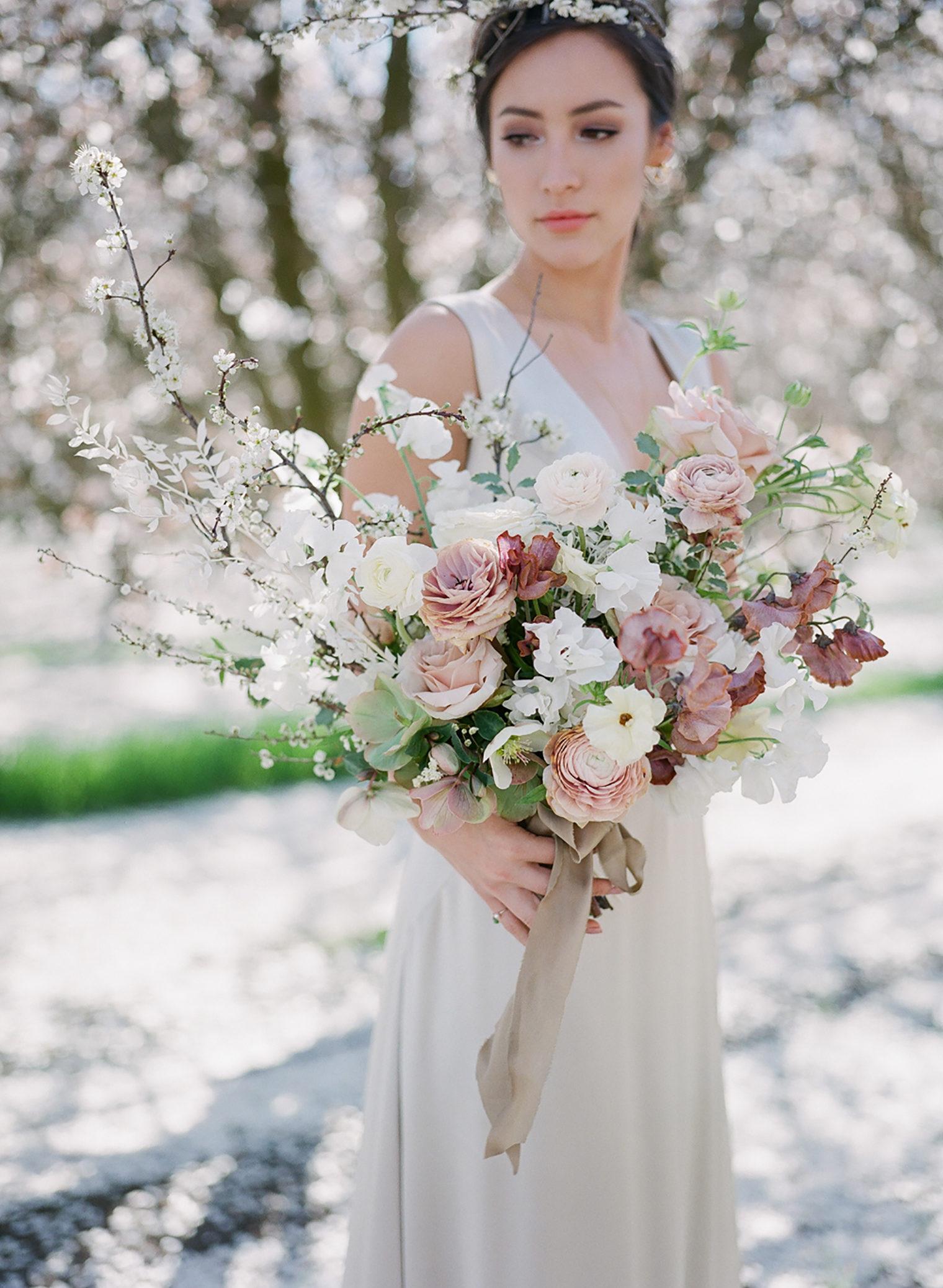 Bridal Bouquet wedding photographer Jeremy Chou florist Walnut & Main