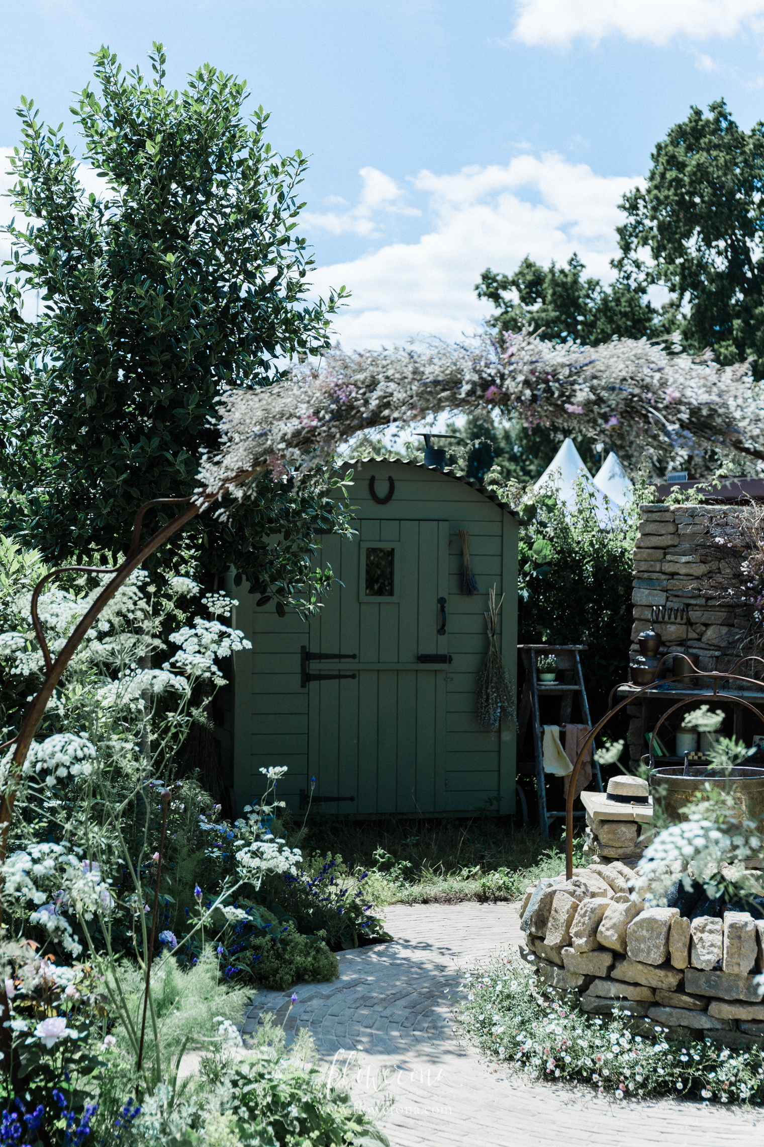 The Naturecraft Garden by Pollyanna Wilkinson at RHS Hampton 2019