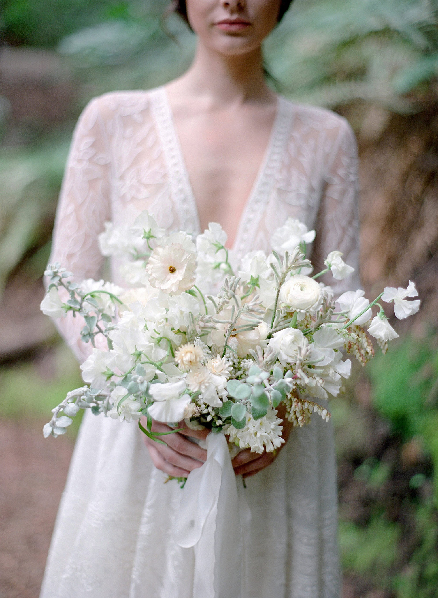 Wedding Shoot at Laurie Arons Masterclass featuring White Bridal Bouquet by Tinge photographed by Jose Villa