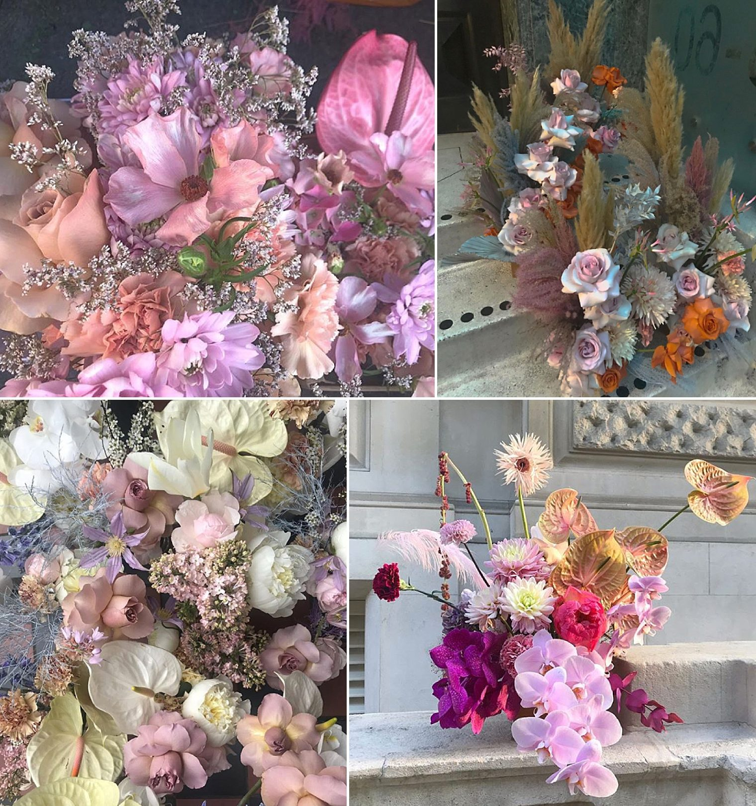 Floristry design and London's Young Creatives with floral designs by PinkGoldPeach