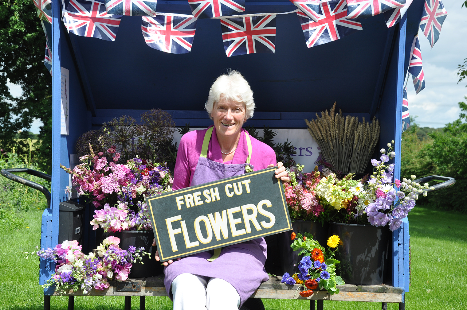 British flower growers - Gill Hodgson from Fieldhouse Flowers