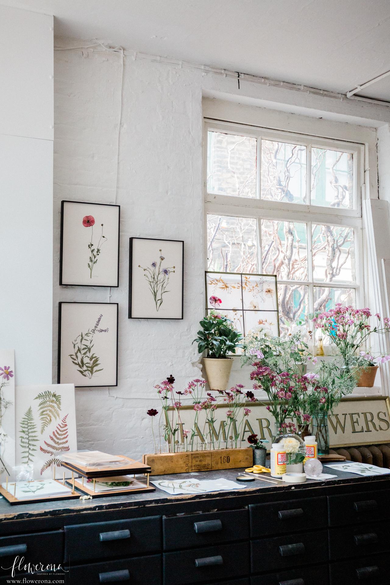Flower Pressing & Cyanotype Print Workshop with JamJar Edit   Part 1