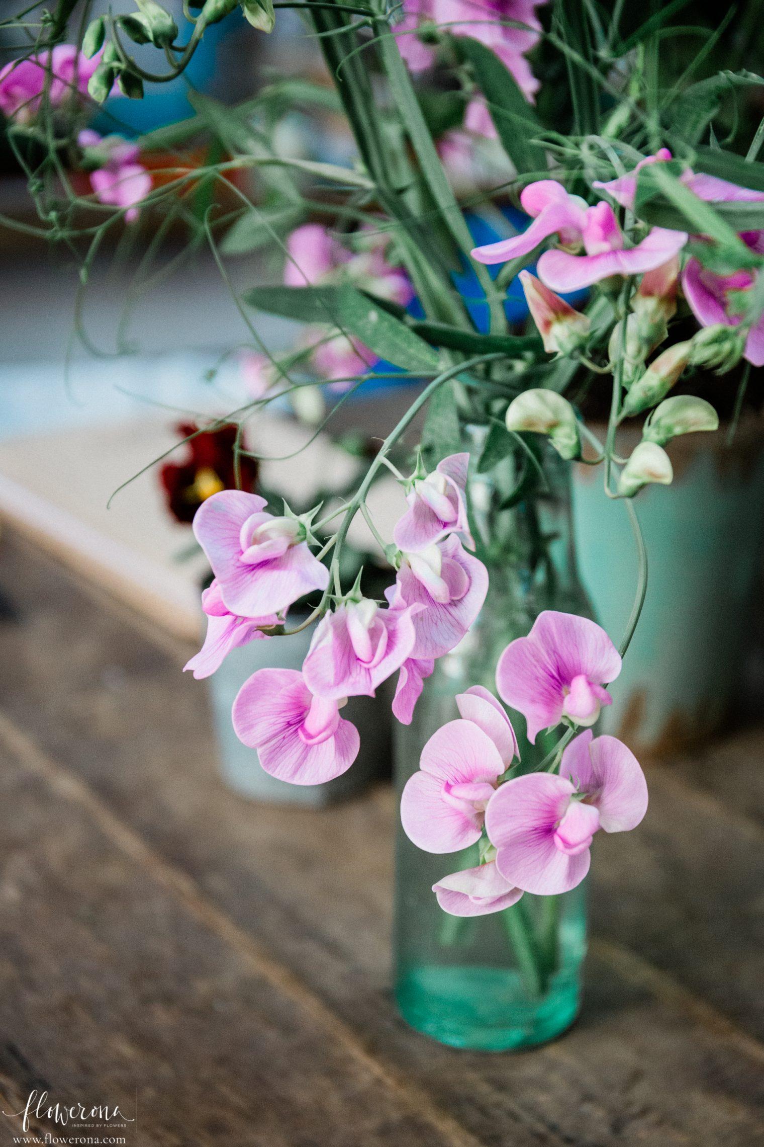Flowers at the JamJar Flowers Studio