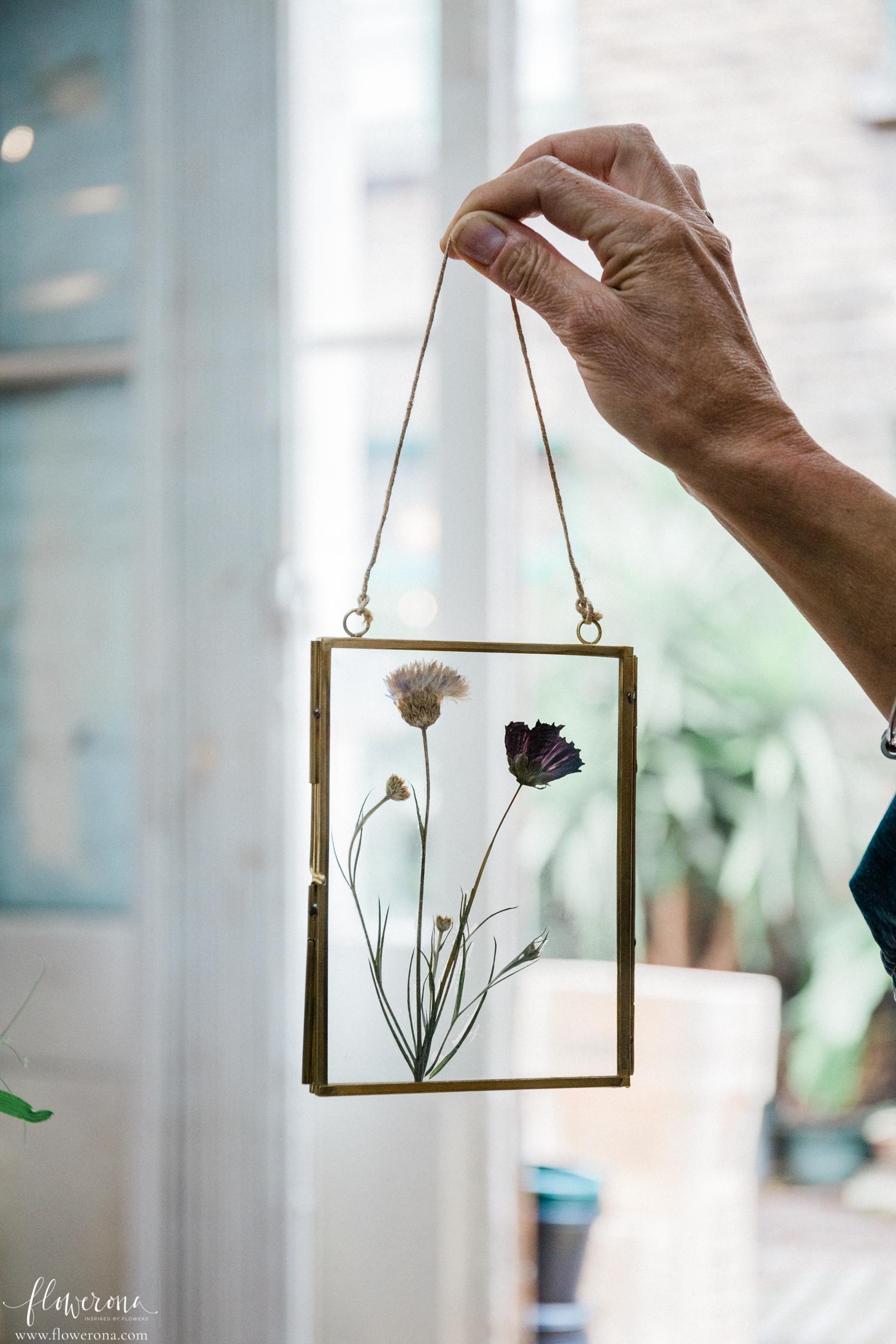 Pressed Flowers in Frame
