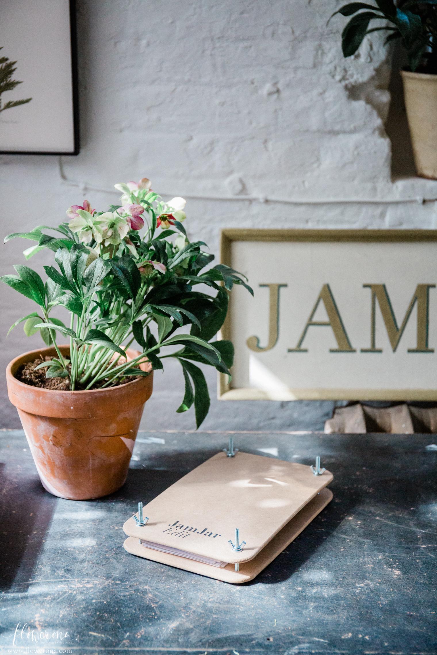 Flower Press at Flower Pressing & Cyanotype Print Workshop with JamJar Edit