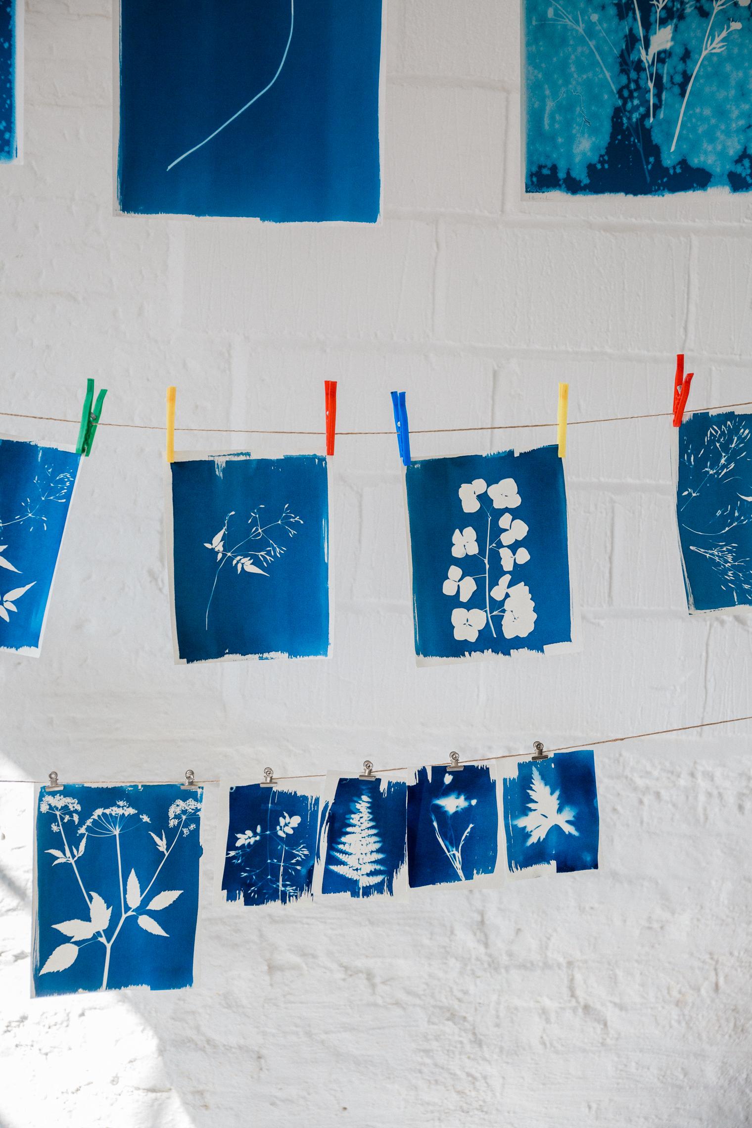Flower Pressing & Cyanotype Print Workshop with JamJar Edit   Part 3