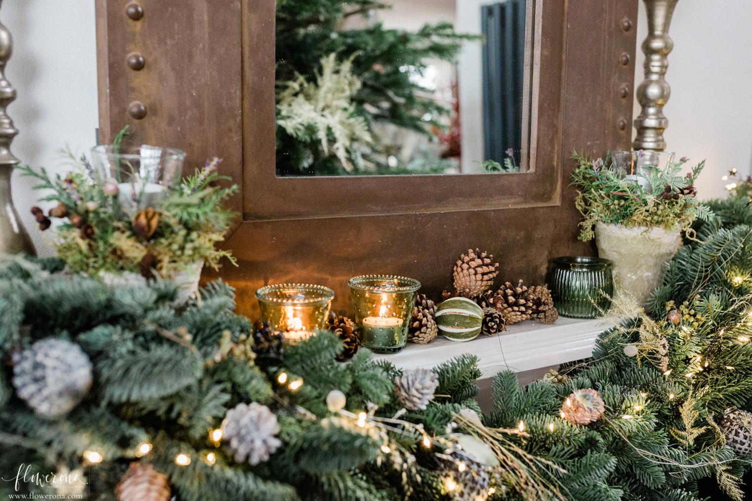 Festive mantelpiece