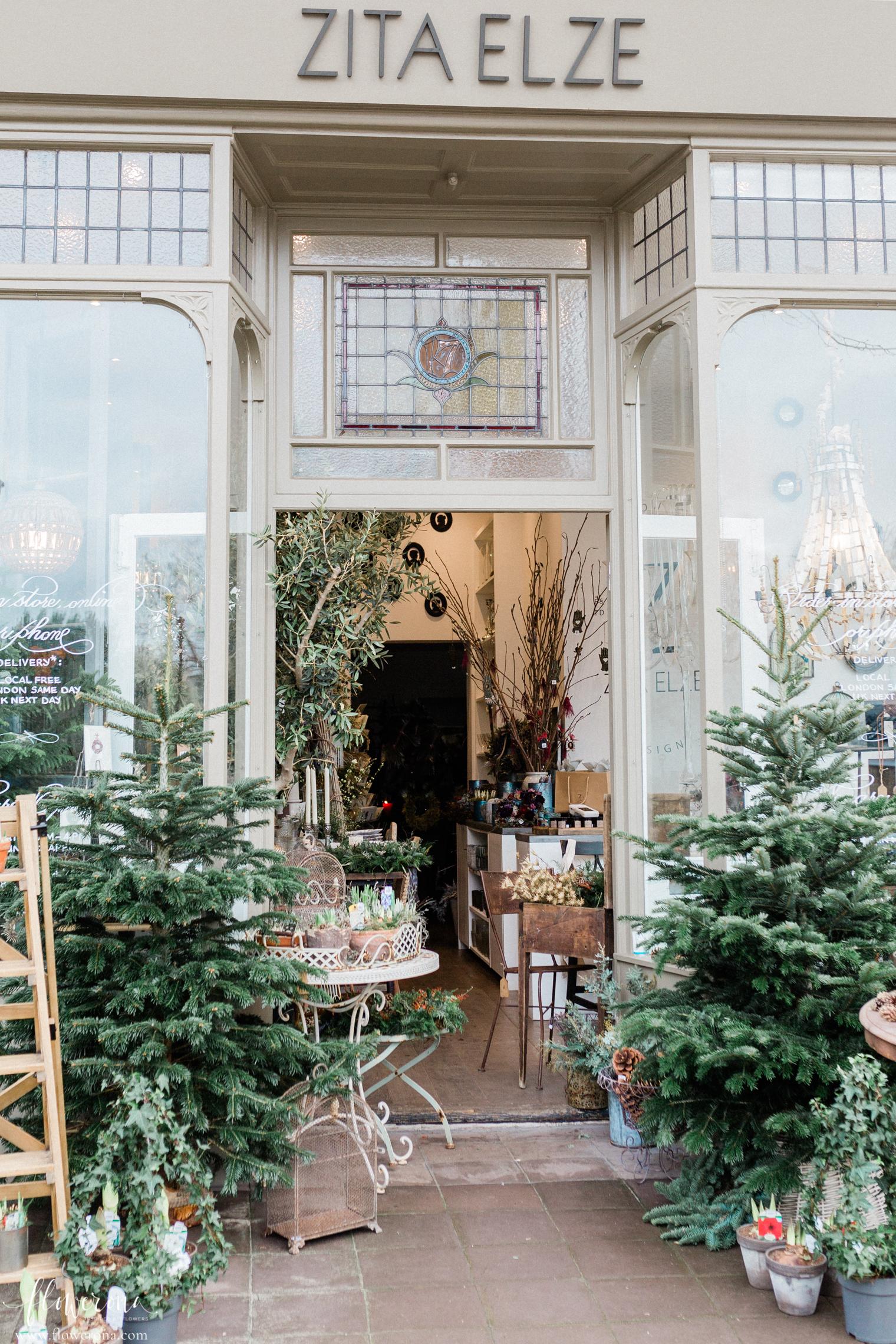 Zita Elze's flower shop in South West London