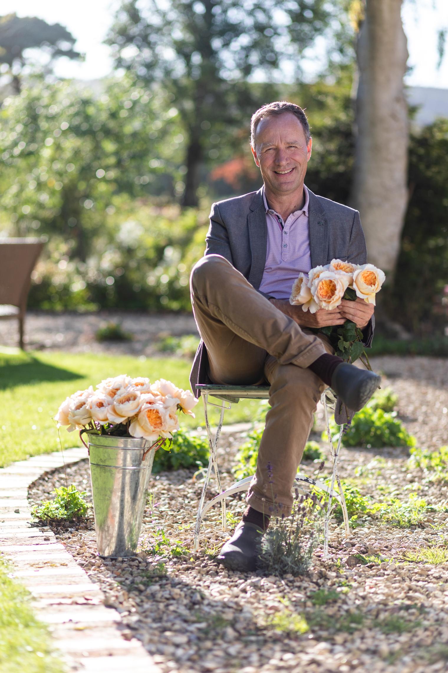 David J C Austin, Managing Director   David Austin Wedding Roses