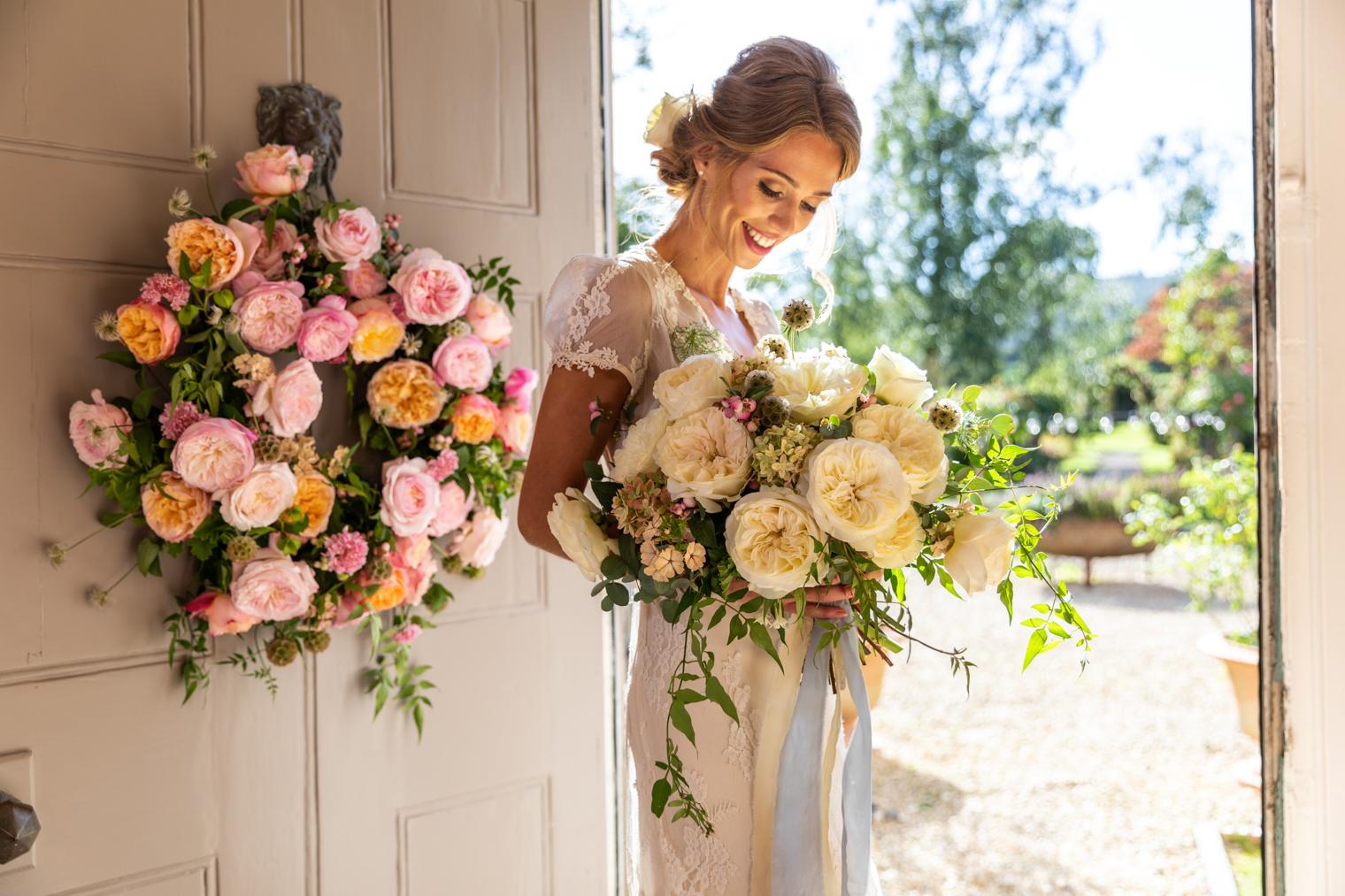 Leonora (Auswagsy) bridal bouquet   David Austin Wedding Roses