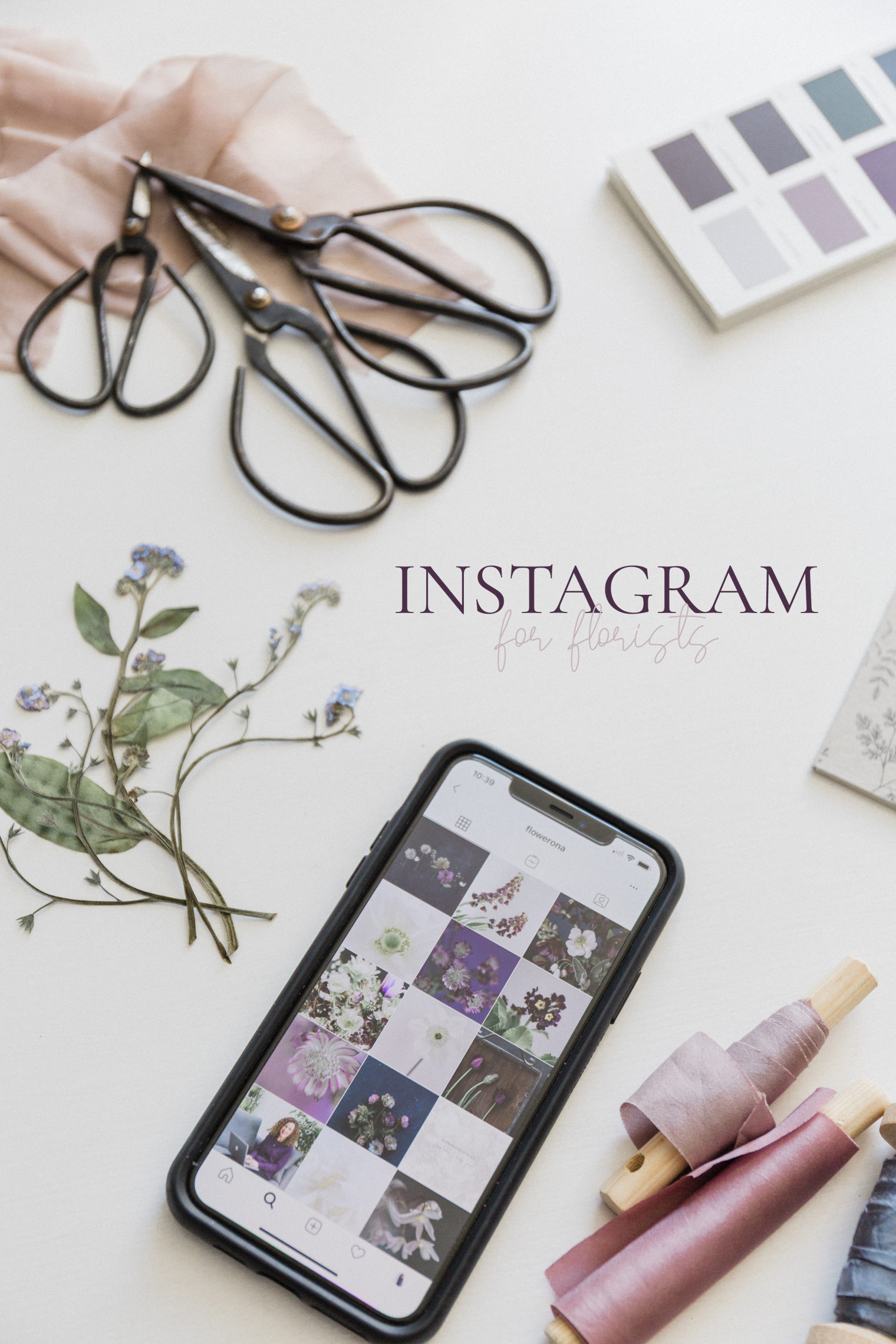 Instagram for Florists online course Rona Wheeldon Flowerona January 2020
