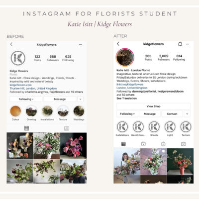 Student Transformations | Instagram for Florists Online Course