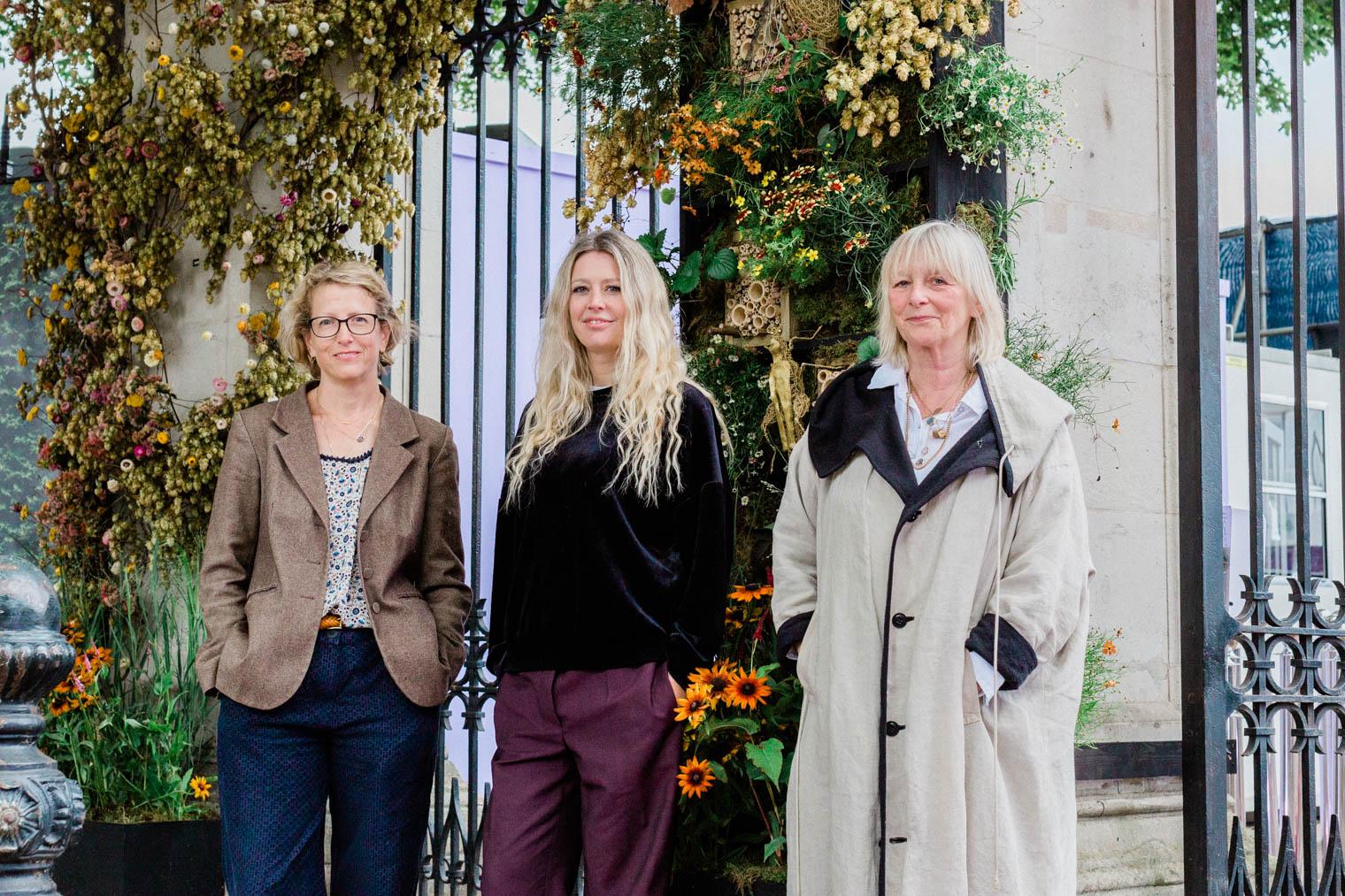 Daisy Garnett together with Talena Rolfe and Melissa Richardson from JamJar Flowers